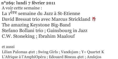 Jazz-Rhone-Alpes com n° 269 du 07/02/2011